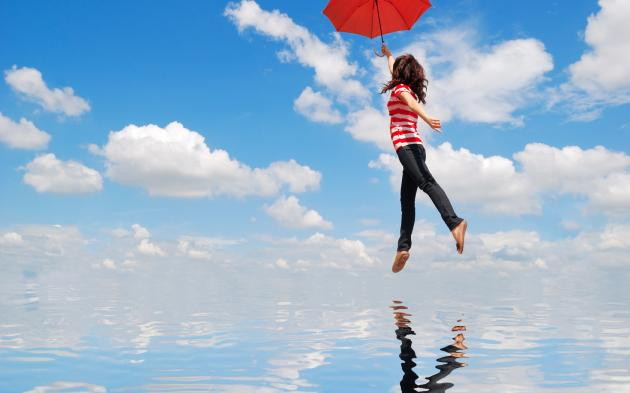 clouds-wallpapers-girl-umbrella-flight-water-reflection