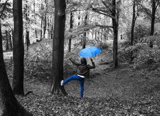 tanec v dešti
